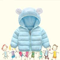 婴儿羽绒外套1女童棉衣2男宝宝棉袄儿童冬装卡通0-3岁
