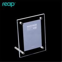 5寸亚克力相框桌签桌牌L型台卡台签桌面广告展示牌6301亚克力桌卡
