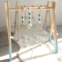ins风网红儿童潮品婴儿健身架0-6个月挂件摇铃配件玩具男孩多功能