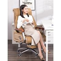 电脑椅家用舒适午休椅按摩可躺办公椅真皮老板椅升降转椅靠背椅子