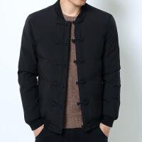 冬季中国风男士立领棉衣复古中式盘扣加厚棉袄仙鹤刺绣外套