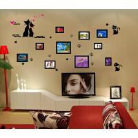 墙纸壁纸墙贴纸贴画 照片猫装饰画客厅沙发背景婚庆墙餐厅卧室
