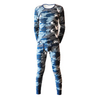 潮男大学生迷彩运动加绒加厚秋衣裤青年男士紧身性感保暖内衣套装