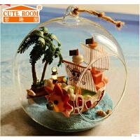 海贼王手办海贼船桑尼号万里阳光梅利丽号 diy玻璃球小屋拼装模型