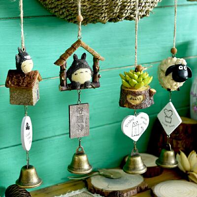 【支持礼品卡】创意日式小清新风铃挂饰门装饰可爱女生卧室房间铃铛挂件生日礼物kz4 优质树脂材质