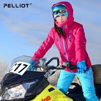 法国PELLIOT/伯希和 滑雪服女  户外加厚保暖透气单双板滑雪衣套装风衣外套