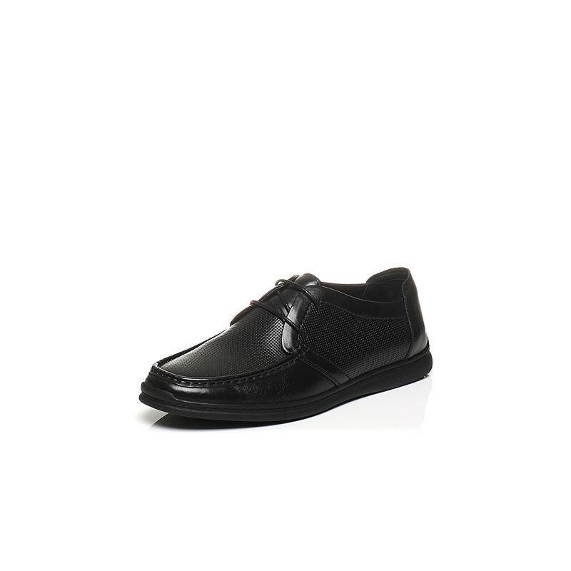 Belle/百丽夏季专柜同款牛皮鞋面打孔男休闲鞋4UP01BM7