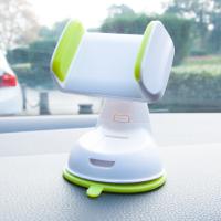 汽车用车载汽车手机支架仪表台玻璃吸盘导航多功能通用出风口手机座SN1105 白加绿 送2个配件