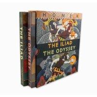 The Iliad/The Odyssey Boxed Set 英文原版 荷马史诗:伊利亚特+奥德赛 2册套装 精装插