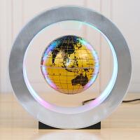磁悬浮地球仪学生用台灯创意夜灯办公室摆件大号发光自转家居摆设