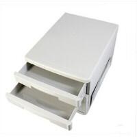 得力文件柜9773 桌面资料整理收纳柜 塑料抽屉柜 5层无锁