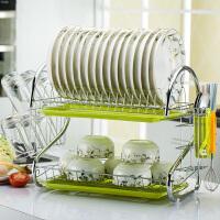 白领公社 沥水架 大号塑料滤网卡槽碗架碗碟架坚实耐用大容量餐具整理置物收纳箱碗筷沥水篮家用厨房用品