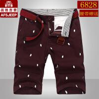 AFS JEEP战地吉普短裤男薄款休闲中裤夏季吉普纯棉五分裤男潮6828