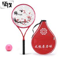 征伐 柔力球拍套装 全碳素太极柔力球拍套装 细柄秘制拍面比赛球拍带拍头袋