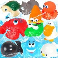 宝宝戏水小浴盆婴儿大黄鸭子多款动物 儿童捏捏叫洗澡水上玩具