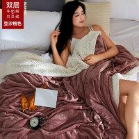 冬季毛毯双人单人加厚保暖床单1.5米1.8宿舍学生珊瑚绒法兰绒毯子