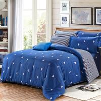 四件套纯棉1.8m床上用品1.5米双人三件套床单被套四季