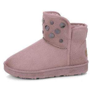 WARORWAR新品YM161-A-28冬季韩版平底舒适女士雪地靴