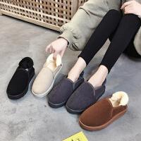 女式 加绒雪地靴女短筒冬季新款鞋子潮韩版冬鞋学生棉鞋百搭面包鞋