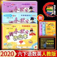 2020春黄冈小状元作业本六年级下册语文数学英语3本套 人教版RJ