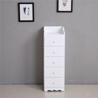 实木收纳柜抽屉式夹缝柜30cm超窄白色组合三四五层客厅墙角储物柜 1个