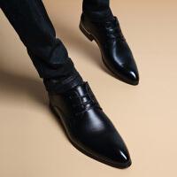 冬季加绒尖头商务内增高6cm皮鞋男士英伦韩版正装休闲男鞋子