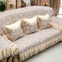 20190203065755461欧式皮沙发垫四季通用 组合123套装防滑三人座垫沙发套全包套 慕羽 香槟