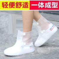 内胆学生男女透明雨鞋套儿童雨靴中大童时尚款户外外穿套鞋下