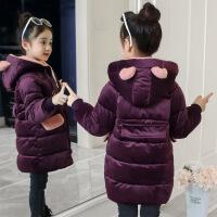 №【2019新款】冬天穿的女童金丝绒棉衣儿童外套中大童棉袄中长洋气羽绒