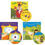 廖彩杏书单 英文原版绘本 Childs Play 韵文童谣 6册合售 附5CD 超大开本 洞洞书 送音频