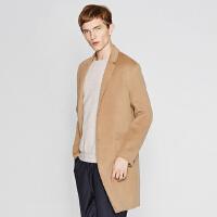 【2件1.5折价:230.9,可叠券】ME&CITY男基本双面呢大衣