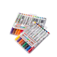 智牌 彩色水性小白板笔 水彩笔可擦易擦 8色/12色套装 儿童绘画板标记笔 涂鸦标记笔