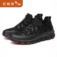 商场同款红蜻蜓男鞋冬季新款正品运动休闲鞋子板鞋男布鞋