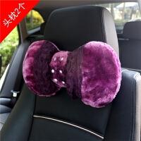 冬季毛绒汽车内饰套装车饰女卡通排挡手刹套安全带护肩套后视镜套