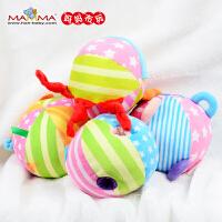 宝宝玩具婴儿手抓球 0-1岁益智玩具球五彩感官球铃铛球儿童布球智