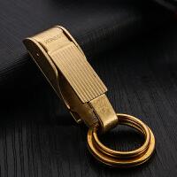 复古黄铜钥匙扣腰挂 高端上档次汽车钥匙挂件圈环创意礼品