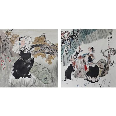 现代画家  杨丽  相思 风情一组