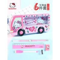 凯蒂猫小学生女童铅笔盒公主笔盒笔袋 多功能文具套装儿童文具盒