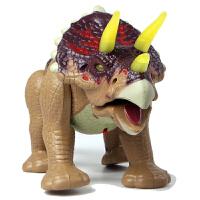恐龙玩具三角龙 大号电动恐龙仿真模型 会行走发声发光侏罗纪男孩礼物儿童玩具套装