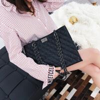 时尚大包包新款大容量手提单肩包简约百搭韩版菱格链条女包潮