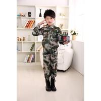 儿童迷彩演出服幼儿园中小学生迷彩军装表演服装少儿舞蹈服军训服 如图