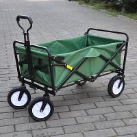 四轮超市购物车野营营地户外手拉杆拖买菜宠物推车可折叠便携家用