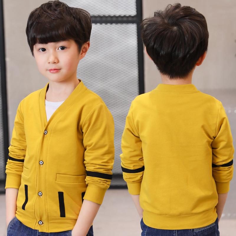 男童开衫外套儿童春装上衣单排扣外衣中大童