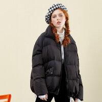 【1件3折叠券约:127.2,仅12月5日】美特斯邦威羽绒服女时尚学生立领短外套保暖chic面包服冬新款