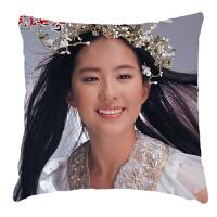 抱枕头定制刘亦菲同款闺蜜情侣生日礼物周边人形双面照片靠垫 A1 刘亦菲 -1