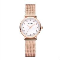 艾奇手表女生防水时尚款北欧风镶钻腕表简约手表石英表钢带女表50015
