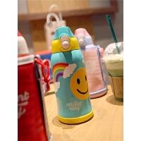 儿童保温杯带吸管水杯防摔幼儿园水壶学生女