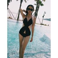 泳衣沙滩度假风网红镂空露背雪纺性感修身显瘦遮肚连体比基尼镂空