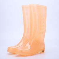 雨鞋女透明糖果时尚防水胶鞋女雨靴高筒防滑防水时尚水鞋水靴