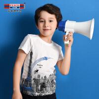 【3件2折:27.8】铅笔俱乐部童装2020夏季新款男童T恤短袖中大童T恤男圆领T恤上衣
